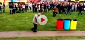 This Grandad has some moves! 83 year old at a rave festival. LOL