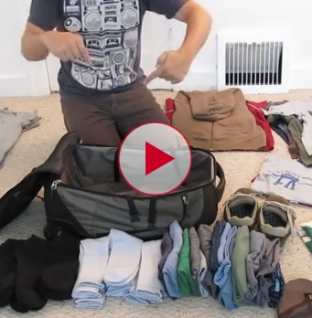 Wow this guy fits all this stuff into one small bag. Learn to Pack like a Pro.