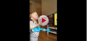 Cutest thing ever! Kid Singing Ed Sheeran Thinking Out Loud with Dad.