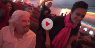 Dancing in the Aisles. Amazing moment on board Virgin Flight to Detroit.