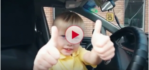 Youngest taxi cab driver in the world at only 3 Years old. Hilarious!