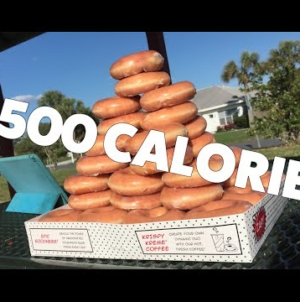 Gross or Amazing? Watch this really thin chick eat 50 Krispy Kreme Donuts one after another.